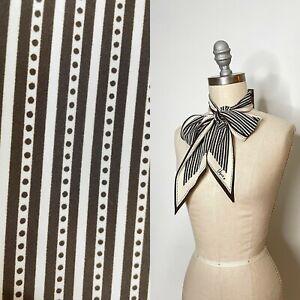 Vintage 60s Vera Neumann Long Striped Polka Dot Scarf