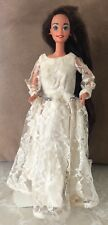 Vintage 1976 Barbie Doll, wearing Ivory colored wedding dress! Copyright 1966