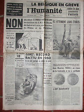 L'Humanité - (23 déc 1960) Belgique en grève - Référendum - Emeutiers d'Alger