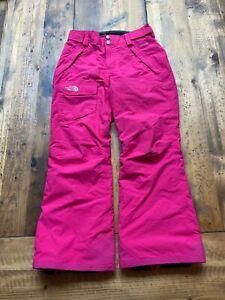Girls Pink North Face HyVent Snow Winter Ski Snowboard Pants - Size M 10/12