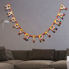 HAPPY BIRTHDAY BANNER 8ft LONG Party Boy/Girl Bunting Garland Hanging Wall Decor