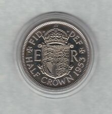 More details for proof 1953 elizabeth ii half crown in mint condition with a capsule