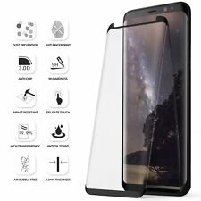 Samsung Galaxy S8 Plus-Black Poetic【Edge-to-Edge】Tempered Glass Screen Protector