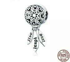Dream Catcher Charm Live Laugh Love For Charm Bracelet Pendant Charms Silver 925