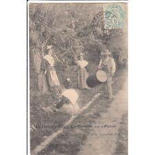 SCENES ET TYPES DE PROVENCE 4 lou tambourin jogo e flutouto timbrée 1906