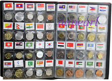 120 countries Regions Coins with flag Collections book album real Coins money