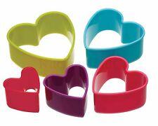 Kitchen Craft Colourworks 5 Piece Heart Cookie Cutter Set Valentines CWCUTHRT