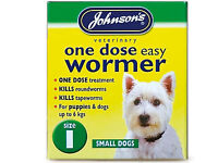 Johnsons One Dose Easy Wormer Dog Worm Worming Tablets Roundworm Tapeworm