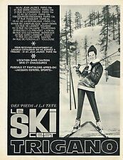 PUBLICITE ADVERTISING 014   1963  TRIGANO   vetements de ski anorak fuseau
