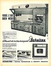 PUBLICITE ADVERTISING 044   1963   SCHOLTES  éléctroménager