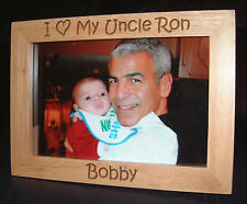"""Personalized Engraved """"I Love My Uncle"""" 4x6 Frame"""