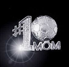 LOOK Sterling silver Sports #1 soccer Mom pendant charm ball