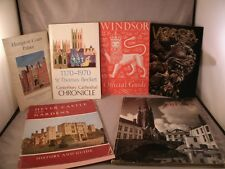 Vtg lot of 6 Travel Guide Books,Windsor Hampton Court Canterbury Cathedral Wasa