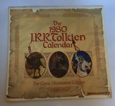 J.R.R. Tolkien Calendar 1980 The Great Illustrators Ed. Rare Fantasy Art