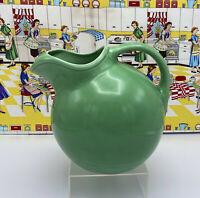 "Vintage HLC Harlequin Fiesta Green Ball Jug Service Water Pitcher 7 1/4"""