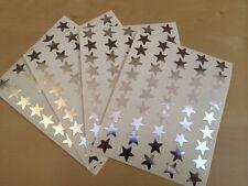 45 13mm Large Silver Foil Stars Shiny Reward Stickers For Charts/Teachers Merit