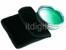 72mm Graduated Green Color Lens Glass Filter Screw-in Half Green Half Clear 72 m
