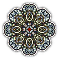 "Mandala Spiritual Indian Symbol Lotus Car Bumper Sticker Decal 5"" x 5"""
