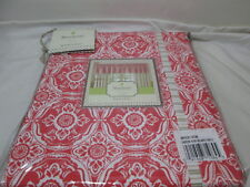 """Mary Jane's Farm Home Window Lined Valance 80""""x15"""" GARDEN VIEW ~ Red and White"""