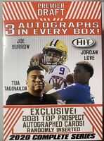 2020 Sage HIT Football High Factory Sealed Blaster Box 3 Autos! Burrow Herbert?