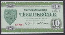FAROE ISLANDS  FOROYAR  10 Kronur L 1949 (1974)  UNC  P16a