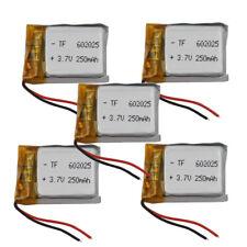 5 pcs 3.7V 250 mAh 602025 Polymer Li battery Li-po For Mp3 GPS Glasses headset