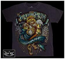 Shiroi Neko T Shirt Minute Mirth grafic Tatouage Punk Goth Emo Bnwt Taille L