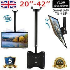 """20""""-42"""" LCD LED Plasma Monitor Flat Tilting Swivel TV Ceiling Roof Mount Bracket"""