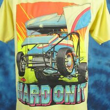 NOS vintage 80s HARD ON IT NARC SPRINT CAR RACING T-Shirt L world of outlaws 90s