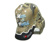 Bible Man of Faith Jesus God Camo Camouflage Embroidered Cap Hat (TOPW)