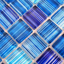 Mosaïque carreau translucide cristal coup bleu cuisine bain 74-0409_b | 1 plaque