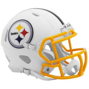 Pittsburgh Steelers White Matte Authentic Speed Helmet New In Box 25791