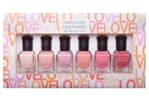 Deborah Lippmann Make Me Blush Nail Polish Bundle Gel Lab Pro Color 6 BOTTLES
