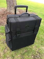 Rolling Makeup Case Travel Luggage Trolley Train Soft Storage Cosmetic Organizer