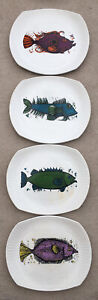 Retro 1970s Beefeater Aquarius Set plates x 4