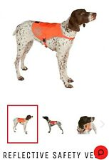 NEWUltra Paws HiVision Dog Safety Vest Neon Orange Reflective Panels Night Walks