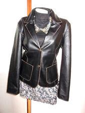Papaya Hip Length Faux Leather Coats & Jackets for Women