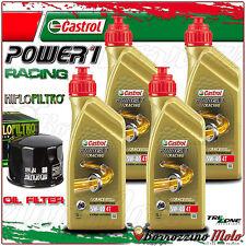 KIT TAGLIANDO OLIO CASTROL POWER 1 RACING 5w40 + FILTO HIFLO BMW K1300 R 2012