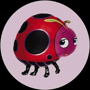 Ladybug Lady Bug Cartoon Pink Drink Coasters Polyester Top Rubber Bottom Setof4