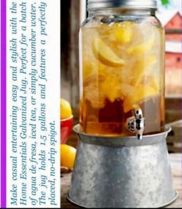 Cold Beverage Dispenser With Metal Stand