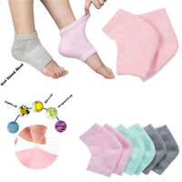 2 x Silicone Cotton Moisturizing Gel Heel Socks Cracked Foot Skin Care Protector