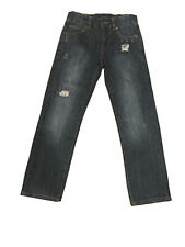 Lucky Brand Billy Straight Factory  Destroyed Jeans Adjust Waist Tab Size 10
