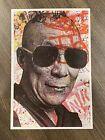 MR BRAINWASH DALAI LAMA POST CARD PRINT 2008 CARD MBW street art urban pop