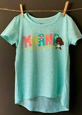 GIRLS 5 / 5T Disney Moana Teal Short Sleeve T-Shirt with High Low Hem NWOT