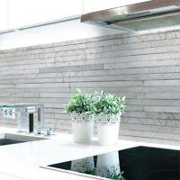 Küchenrückwand Steinschichten Grau Premium Hart-PVC 0,4 mm selbstklebend