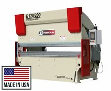 New 120 Iroquois Cnc Y1y2 Syncro Hydraulic Press Brake 200 Ton Made In Usa