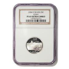 USA Iowa State Quarter 2004 S Silver Proof NGC PF 69 Ultra Cameo