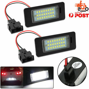 Vehicle Number License Plate Light Lamp Tail Lights LED For Audi TT Coupe 2PCS