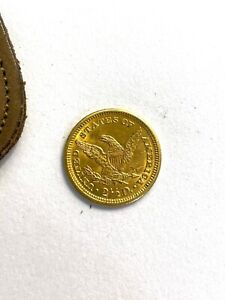 1906 GOLD UNITED STATES $2.5 DOLLAR GOLD LIBERTY HEAD EAGLE COIN