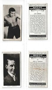 WA & AC Churchman Cigarette Cards Boxing Personalities End Cards #1 & #50 – 1938